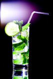 Mojito on black Stock Image