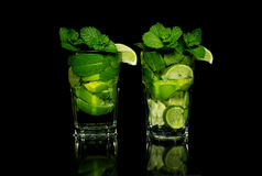 Mojito on a black background Stock Photography