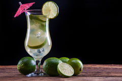 Mojito on black Stock Images