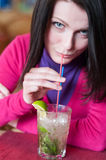Mojito in cafe Royalty Free Stock Photography