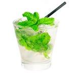 Mojito caipirina cocktail with fresh mint leaves Royalty Free Stock Photos
