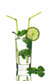 Mojito cocktai Isolated on White Background Royalty Free Stock Photo