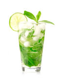 Mojito cocktail. On white background Royalty Free Stock Photography