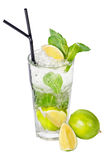 Mojito Cocktail. On a white background Royalty Free Stock Photo
