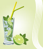 Mojito Cocktail. Royalty Free Stock Images