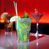 Mojito cocktail. On a red background Royalty Free Stock Image