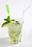 Mojito cocktail. On a white background Royalty Free Stock Photos