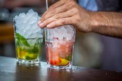 Mojito-Cocktail lizenzfreie stockbilder