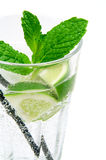 Mojito Cocktail. A glass of mojito cocktail stock photo