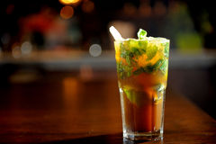 Mojito cocktail in bar Royalty Free Stock Images