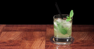 Mojito cocktail on black Stock Photography