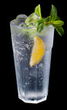 Mojito cocktail on black background Stock Photography