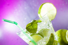 Mojito cocktail at the club Royalty Free Stock Images