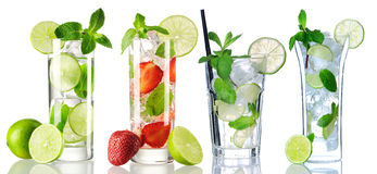 Mojito cocktail collection Stock Photography