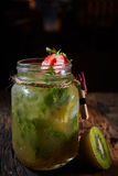 Mojito cocktail drink and fruits. Royalty Free Stock Photos