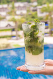 Mojito cocktail fresh drink for drunk Stock Photo