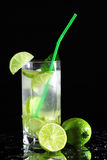 Mojito cocktail with fresh limes Stock Photography