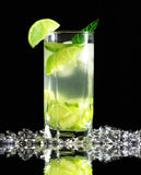 Mojito cocktail with fresh limes Stock Photos