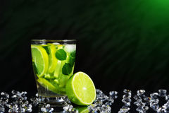 Mojito cocktail with fresh limes Stock Images