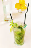 Mojito cocktail in a glass Royalty Free Stock Photography