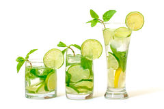 Mojito Cocktail in a Glass Beaker stock image