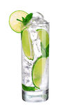 Mojito cocktail in glass isolated on white Stock Image