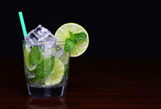 Mojito cocktail in glass with mint Stock Image