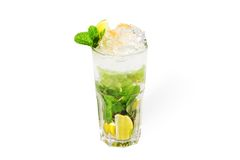 Mojito cocktail with ice Stock Photography