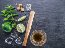Mojito cocktail ingredients. Stock Photo