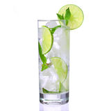 Mojito cocktail isolation royalty free stock photos