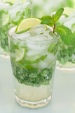 Mojito. Cocktail with lime and mint Stock Photography