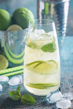 Mojito cocktail with lime and mint Stock Photo