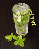 Mojito cocktail with mint leav Royalty Free Stock Photo