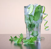 Mojito cocktail with mint leav Royalty Free Stock Images