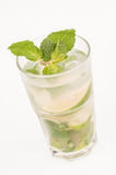 Mojito cocktail with mint leaves Stock Photography