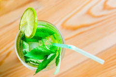 Mojito cocktail with mint and lime Royalty Free Stock Photo
