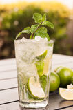 Mojito cocktail outdoors close up Stock Image