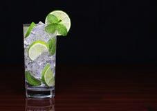 Mojito cocktail over black Stock Image