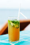 Mojito Cocktail at the pool Stock Images