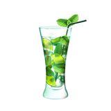 Mojito cocktail realistic Stock Photography