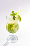 Mojito cocktail a refreshing cold drink. Stock Photos