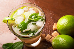 Mojito cocktail. With rum,mint and lime Stock Photo