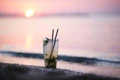 Mojito cocktail at the seashore Royalty Free Stock Photo