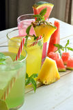 Mojito cocktail of several tropical flavors Stock Images