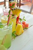 Mojito cocktail of several tropical flavors Royalty Free Stock Photo