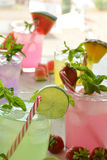 Mojito cocktail of several tropical flavors Royalty Free Stock Image