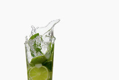 Mojito cocktail splash Royalty Free Stock Photo