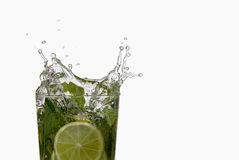 Mojito cocktail splash Royalty Free Stock Photography