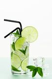 Mojito Cocktail With Straws Royalty Free Stock Image