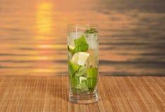 Mojito cocktail at sunset Stock Image